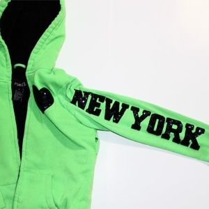 Rue 21 Small New York Embellished Zip Up Hoodie